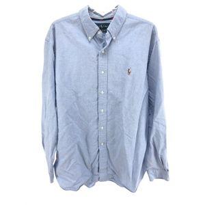 Ralph Lauren XL Classic Fit Button Down Shirt Blue
